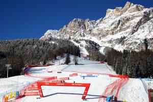 Ski World Cup 2018-2019. Area d'arrivo.