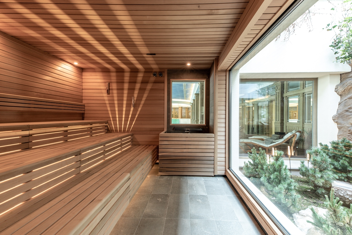 la sauna di starpool all'hotel cristallo