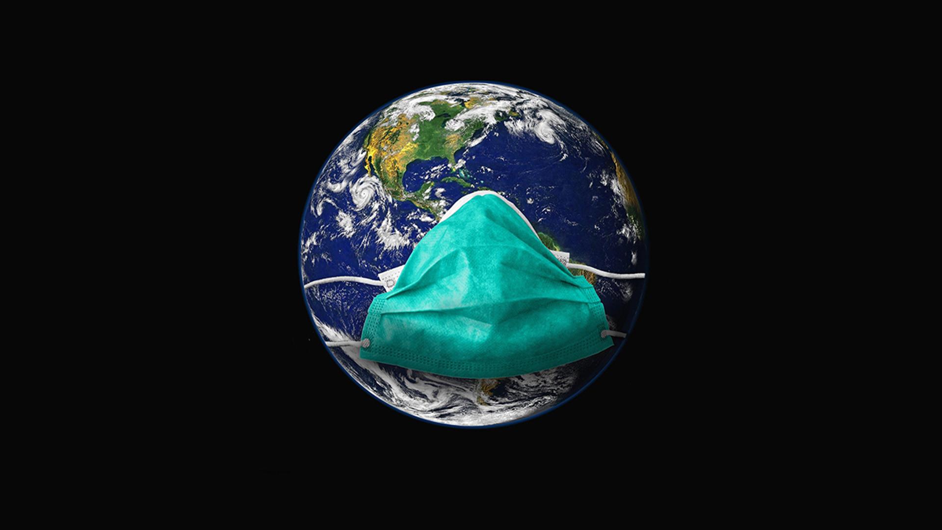 il mondo con la mascherina